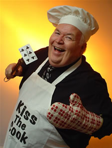 Comedy magician Al Lampkin dressed up and ready to cook you dinner