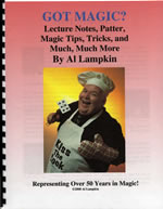 Comedy magician Al Lampkin's lecture notes