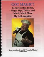Comedy magician Al Lampkin's lecture notes